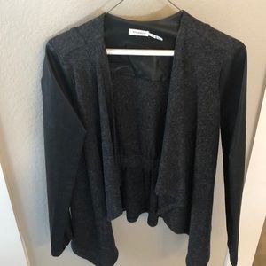 Black and vegan leather jacket